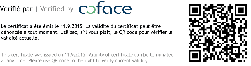 Verified by Coface