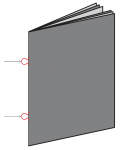 Loop stitched - loops are used in order to insert and secure the document in a ring binder